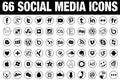 66 circle Social Media Icons black