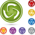 Circle, sphere in color, it services and multimedia logo