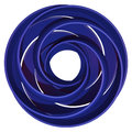 Circle spiral blue d illustration of interwoven circular bands forming a whirling pattern Royalty Free Stock Photography