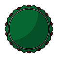 Circle stamp silhouette icon