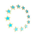 Circle star frame emblem isolated Stock Image