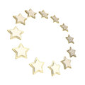 Circle star frame emblem isolated on white Royalty Free Stock Photos