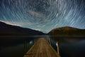 Circle of star, Lake Rotoiti. Royalty Free Stock Photo