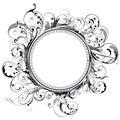 Circle swirl frame Royalty Free Stock Photo
