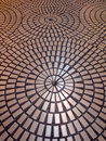 Circle tiled pattern floor Royalty Free Stock Photo