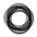 Circle tire tracks