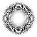 Circle tire tracks white background Royalty Free Stock Photo