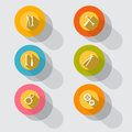 Circle Tools Vector Icons Stock Photo