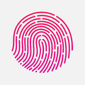 Circle touch fingerprint id app vector illustration Royalty Free Stock Photo