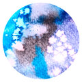 Circle Watercolor Wash Salt Technique Royalty Free Stock Photo