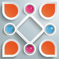 Circles big rhombus startup colored infographic with and on the grey background eps file Royalty Free Stock Photography
