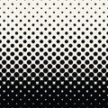 Circles halftone seamless geometric gradient black and white pattern
