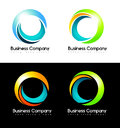 Circles logo business companuy illustration representing colorful abstract Stock Photography