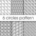 Circles patter illustration vector drawing Royalty Free Stock Images