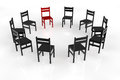 Circletime with chairs in a circle for psychotherapy Stock Photos