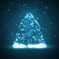 Circuit board background christmas tree technology illustration Royalty Free Stock Images