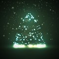 Circuit board background christmas tree technology illustration Royalty Free Stock Photos