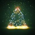 Circuit board background christmas tree technology illustration Royalty Free Stock Photo