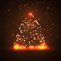 Circuit board background christmas tree technology illustration Stock Photography