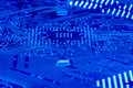 Circuit board in blue 5 Stock Images