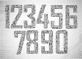 Circuit board digits Royalty Free Stock Images