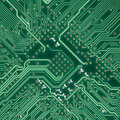 Circuit board electronic square texture Royalty Free Stock Photo