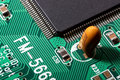 Circuit board extreme macro Stock Images