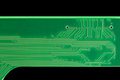 Circuit board from interface isolated on black with clipping path Royalty Free Stock Images