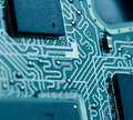 Circuit board of laptop macro Royalty Free Stock Image