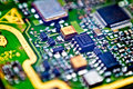 Circuit board macro Royalty Free Stock Images