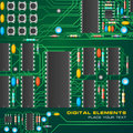 Circuit board with microchips Stock Image