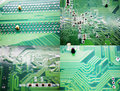Circuit board printed on graphics card Royalty Free Stock Image