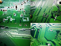 Circuit board printed on graphics card Stock Images