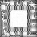 Circuit board square frame Stock Image