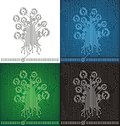 Circuit board tree background Stock Photo