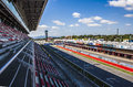 Circuit de catalunya grandstand track and pitlane of the Stock Images