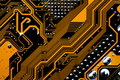 Circuits of a motherboard Royalty Free Stock Photo