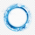 Circular Abstract Technology Background.