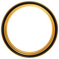 Circular antique picture frame Royalty Free Stock Photo