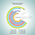 Circular arrow progress chart infographic vector illustration of Royalty Free Stock Photo