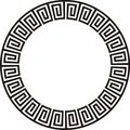 Circular Aztec design Royalty Free Stock Photo