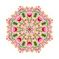 Circular background in shades of emerald. Flower circular background. Mandala.