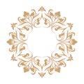 Circular baroque pattern