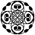 Circular black deco