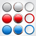 Circular blank glossy buttons illustration Royalty Free Stock Photos