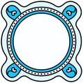Circular border frame place mat