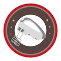 Circular border with kitchen mixer