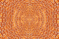 Circular Brick Pattern Royalty Free Stock Photo