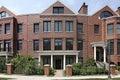 Circular brick townhouse Stock Image