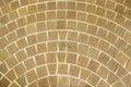 Circular brown brick paving pattern Royalty Free Stock Photo